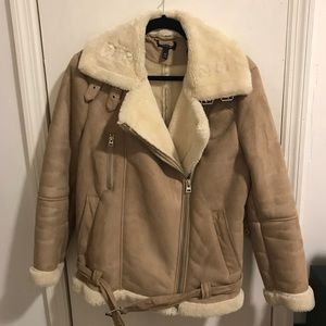 TOPSHOP Sherpa Coat! Barely worn